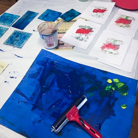 Class Image – Drawing and Monoprinting - Teens Art Club – click to view class details