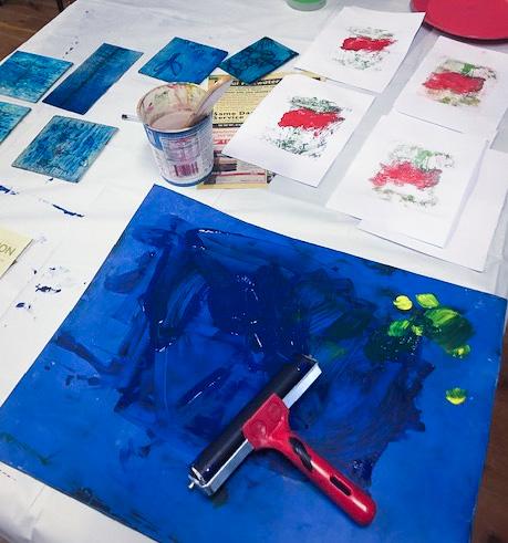 Class Image – Drawing and Monoprinting - Teens Art Club