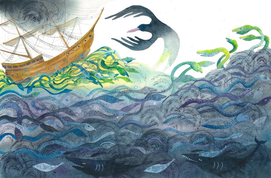 Class Image – Illustration for The Ancient Mariner, by Nettie Lodge