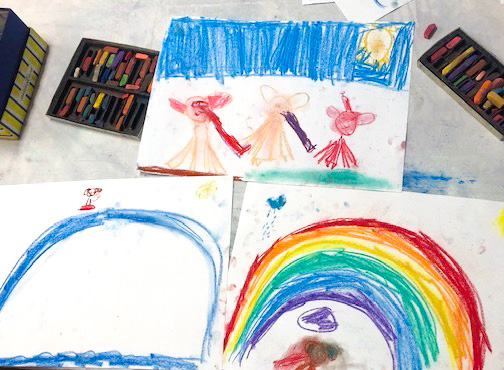 Class Image – Rainbows - Kids Art Club 2021