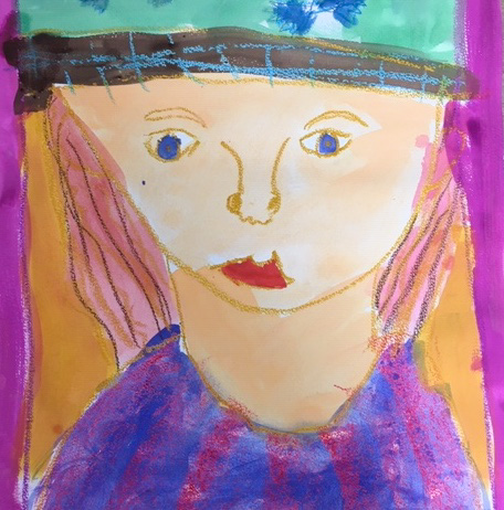 Class Image – Self Portrait - Kids Art Club 2021