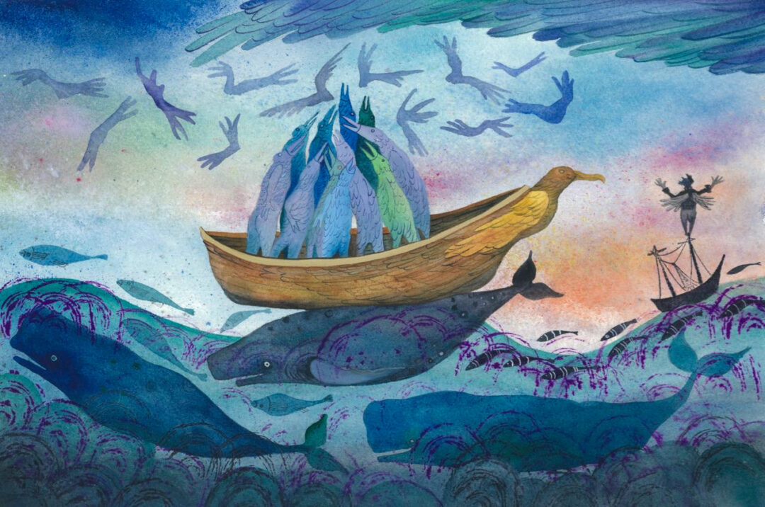 Class Image – From The Ancient Mariner, Water Colour, Nettie Lodge