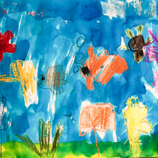 Class Image – Super Whale Highway - Kids Art Club 2021 – click to view class details