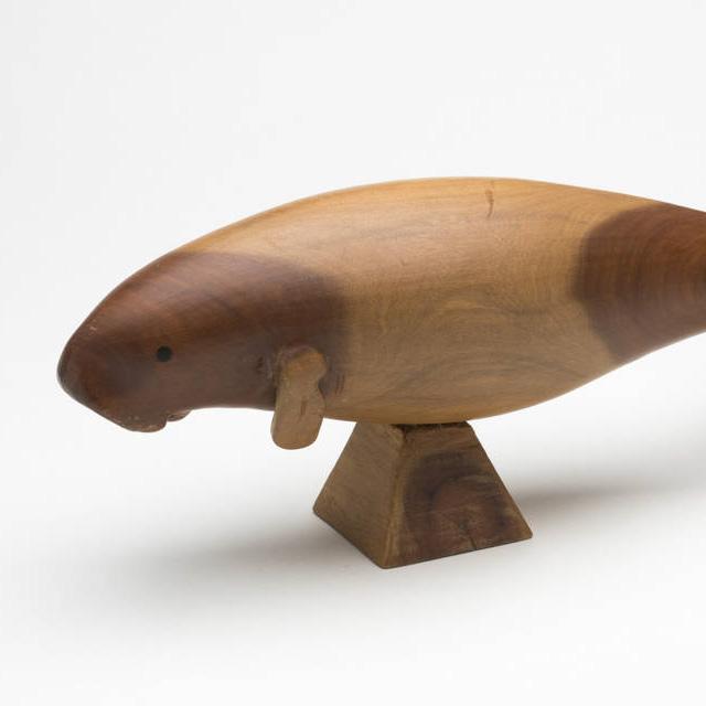 Class Image – Wooden Dugong Sculpture